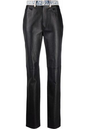 Alexander Wang Damen Lederhosen - Lederhose mit Kontrasteinsätzen