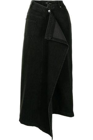 GOEN.J Asymmetrischer Jeans-Midirock
