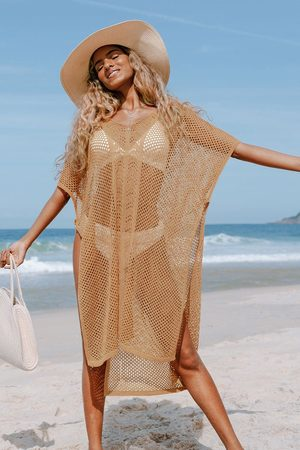 Cupshe Camel ausgehöhltes Cover-up