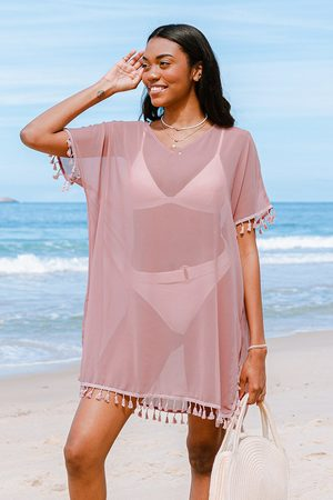 Cupshe Cover-up mit V-Ausschnitt in Rosa