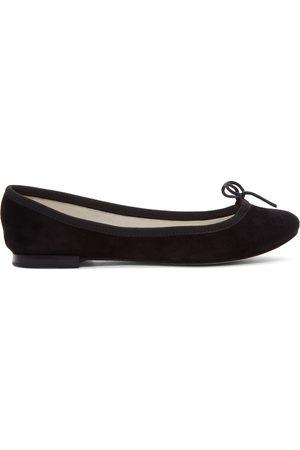 Repetto Black Suede Cendrillon Ballerina Flats