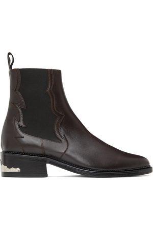 Toga Virilis Herren Chelsea Boots - SSENSE Exclusive Brown Leather Embellished Chelsea Boots