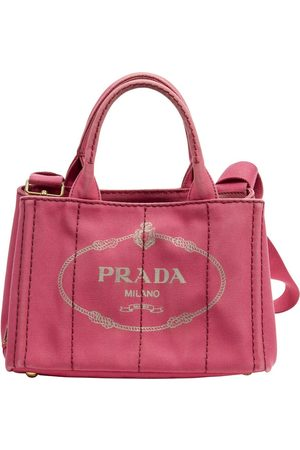 Prada Pre-owned Small Canapa Tote Pink, Damen, Größe: One size