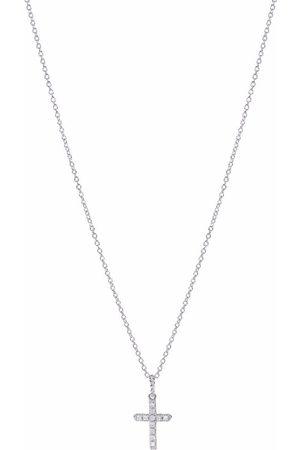 David Yurman Damen Halsketten - 18kt Cable Collectibles Weißgoldhalskette mit Diamanten