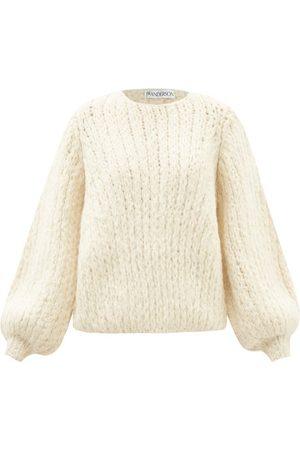 JW Anderson Damen Sweatshirts - Bubble Balloon-sleeve Wool Sweater