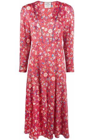 FORTE FORTE Kleid mit Blumen-Print