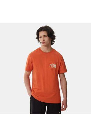 The North Face Berkeley California Pocket T-shirt Mit Taschen Für Herren Burnt Ochre Größe L Herren