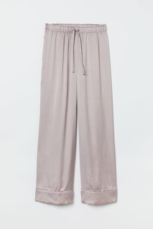 H & M Damen Schlafanzüge - Pyjamahose aus Satin