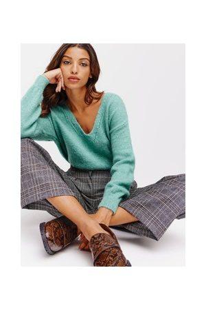 Promod Damen Pullover - Pullover mit V-Ausschnitt