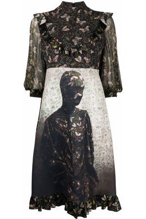 UNDERCOVER Kleid mit Schmetterling-Print