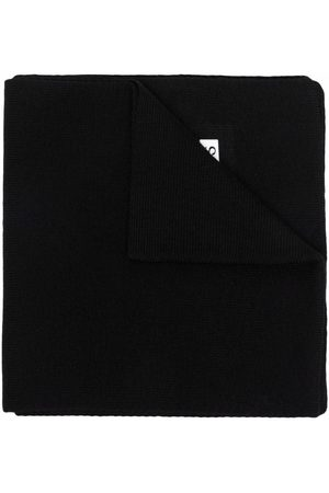 BOSS Kidswear Logo-patch knitted scarf