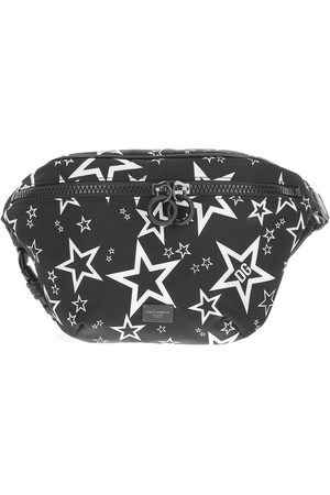 Dolce & Gabbana Pouch finished in all-over star print , Herren, Größe: One size