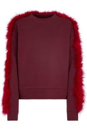 DRIES VAN NOTEN Sweatshirt aus Baumwolle mit Federn