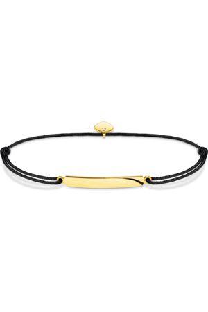 Thomas Sabo Armbänder - Armband Little Secret klassisch gold mit Gravur schwarz