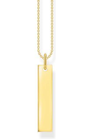 Thomas Sabo Halsketten - Kette Tag gold mit Gravur