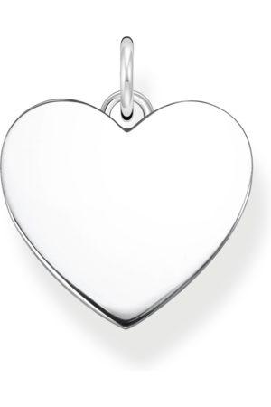 Thomas Sabo Damen Halsketten - Anhänger Herz silber mit Gravur