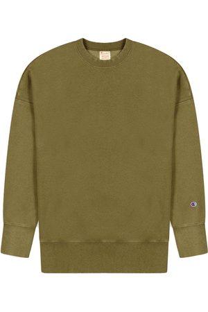 Champion Logo Herren Sweatshirt S oliv