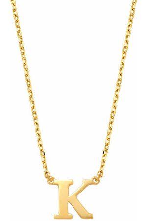 Isabel Bernard Halskette Le Marais Chloé 14 Karat Initial Necklace Letter K gold
