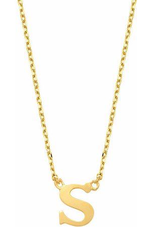 Isabel Bernard Halskette Le Marais Chloé 14 Karat Initial Necklace Letter S gold