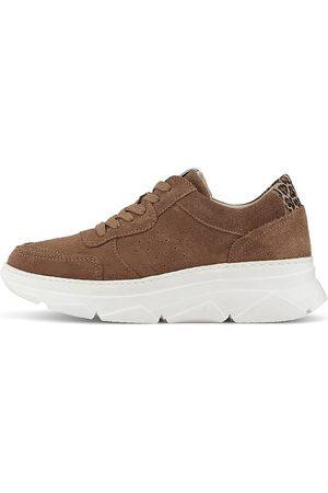 Cox Sneaker in mittelbraun, Sneaker für Damen