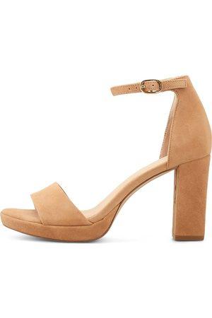 Cox Damen Sandalen - Sandalette in hellbraun, Sandalen für Damen