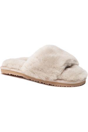 Mou Sheepskin Fur Slide Slipper FW161001L Sand