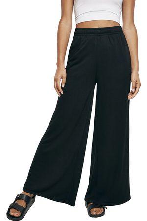 Urban classics Ladies Modal Terry Wide Leg Sweatpants Stoffhose