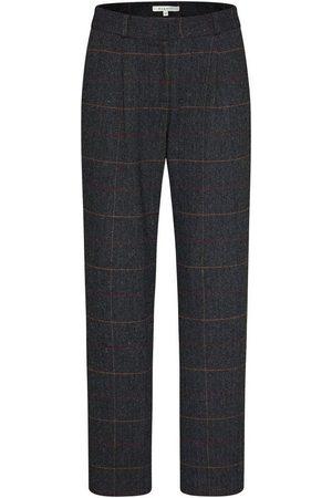 bugatti Damen Hosen & Jeans - 5-Pocket-Hose mit dezentem Karo-Muster