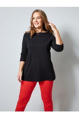 Janet & Joyce Damen T-Shirts, Polos & Longsleeves - 3/4-Arm-Shirt mit flachem Rundhalsausschnitt