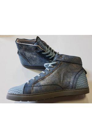 Yellow Cab Damen Sneakers - Halber blaue Leder-Sneakers