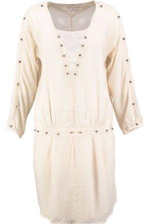 10 Feet Viskose 3/4 Ärmel Kleid mit Petticoat Baumwolle natürliche