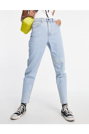 Object – Vinnie – Mom-Jeans mit hoher Taille in Hellblau