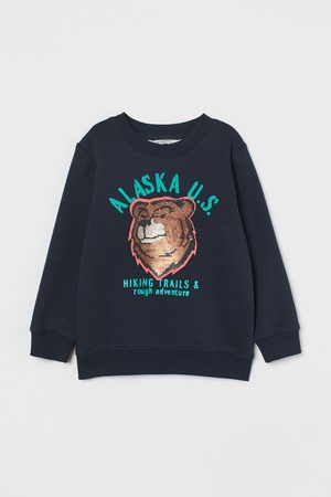 H & M Sweatshirt mit Pailletten