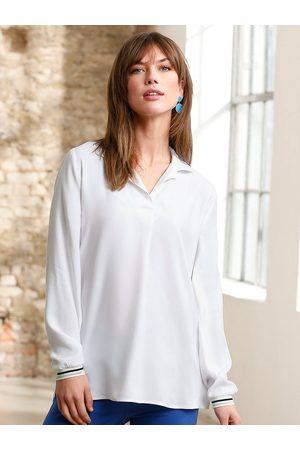 Looxent Damen Blusen - Long-Bluse weiss