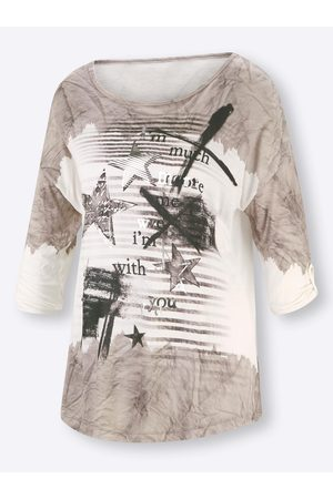 Rick Cardona Druck-Shirt in weiß-bedruckt von