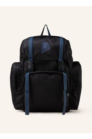 Invicta Laptop- & Aktentaschen - Textil. Schließt mit zwei Steckschließen und Durchzugband. Längenverstellbare Schultergurte. Ein Trageriemen. Außenfach auf der Vorderseite. Seitliche Reißverschlusstaschen. Innen ein Hauptfach. Innenfach mit Reißverschlus