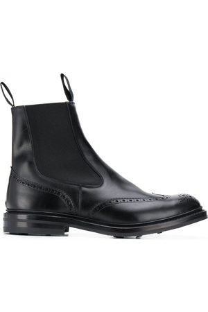 TRICKERS Herren Chelsea Boots - Chelsea-Boots mit Budapestermuster