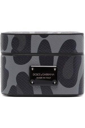 Dolce & Gabbana Herren Handy - AirPods Pro-Hülle mit Leoparden-Print