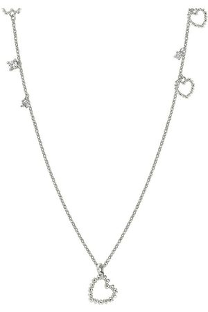 Nomination Sterling Silver and Cubic Zirconia Heart Charm Long Necklace , Damen, Größe: One size