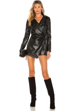 superdown Chantel Leather Romper in . Size XXS, XS, S, M, XL.