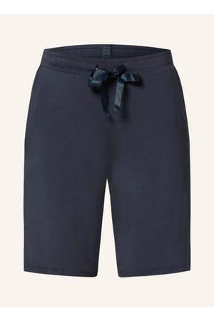 Schiesser Damen Schlafanzüge - Elastischer Taillenbund mit Tunnelzug. Kurzes Bein. Seitliche Eingrifftaschen. Atmungsaktiv. Jerseyqualität