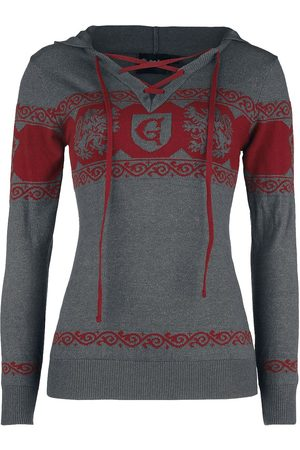 Harry Potter Damen Sweatshirts - Gryffindor Kapuzenpullover dunkelgrau/