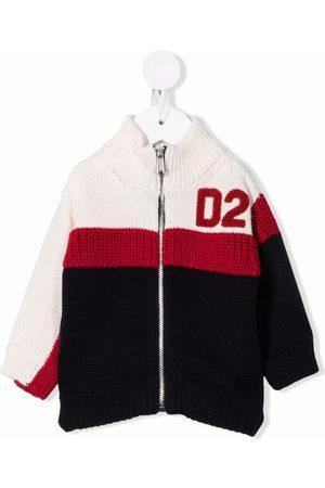 Dsquared2 Kids Strickjacken - Colour-block zip-up cardigan