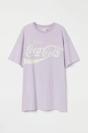 H & M Damen T-Shirts, Polos & Longsleeves - Oversized T-Shirt mit Motiv