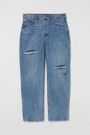 H & M + Straight High Waist Jeans