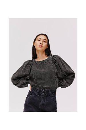 Promod Damen Blusen - Bluse im Denim-Look