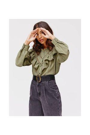 Promod Damen Blusen - Bluse mit Volants