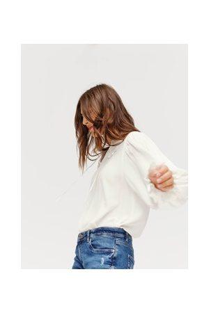 Promod Damen Blusen - Bluse mit Stickerei