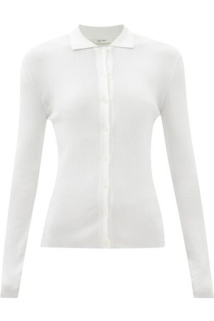 The Row Dryan Buttoned Silk Sweater