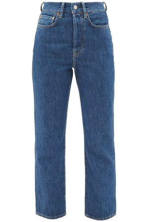 Acne Studios Mece High-rise Cropped Straight-leg Jeans